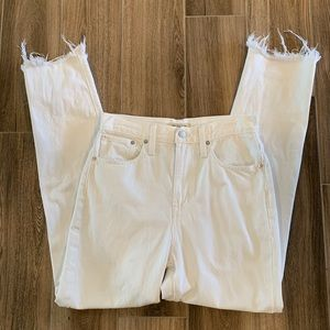 Madewell perfect summer jeans white distressed 26T